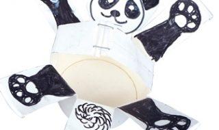 紙コップボート(パンダ)
